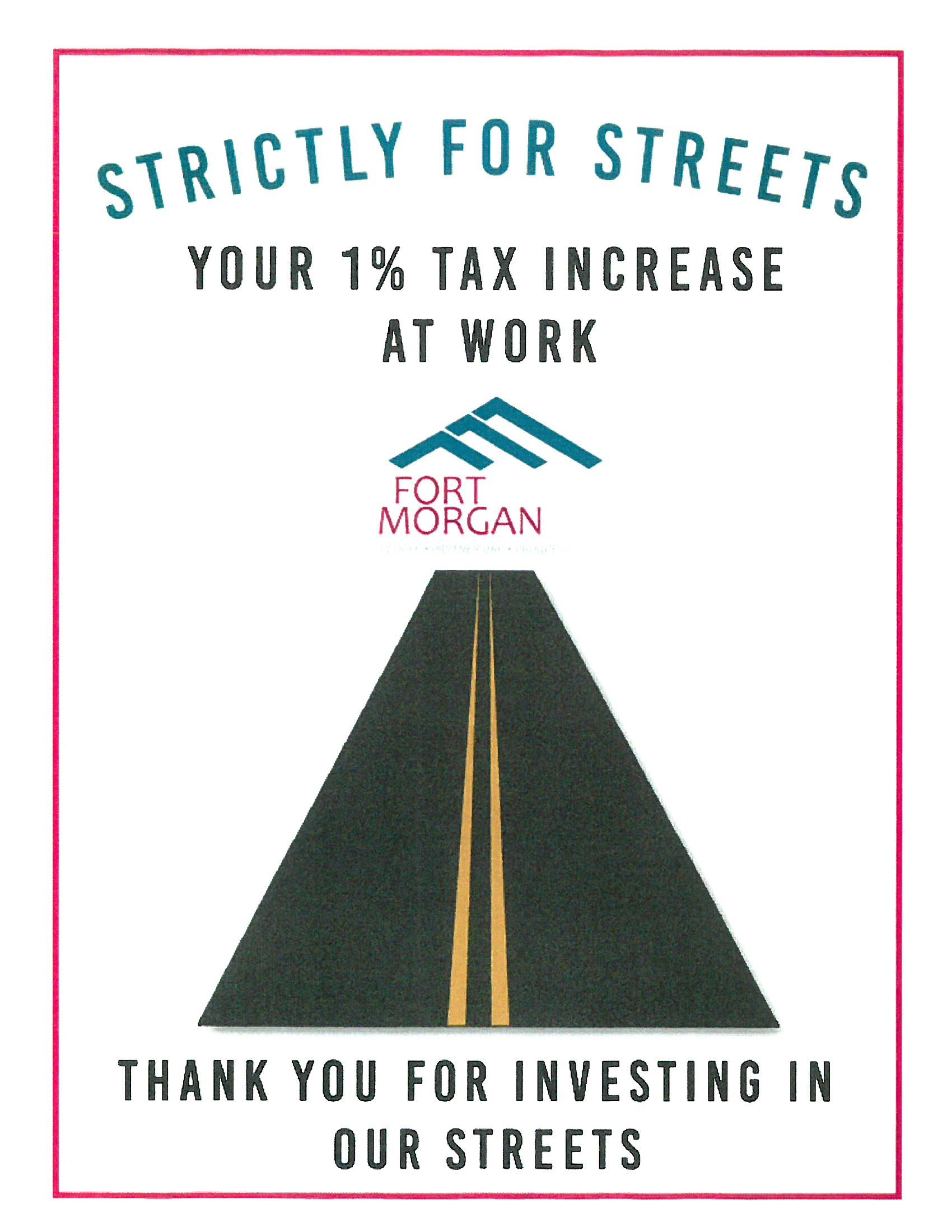 Strictly for Streets  At Work Sign