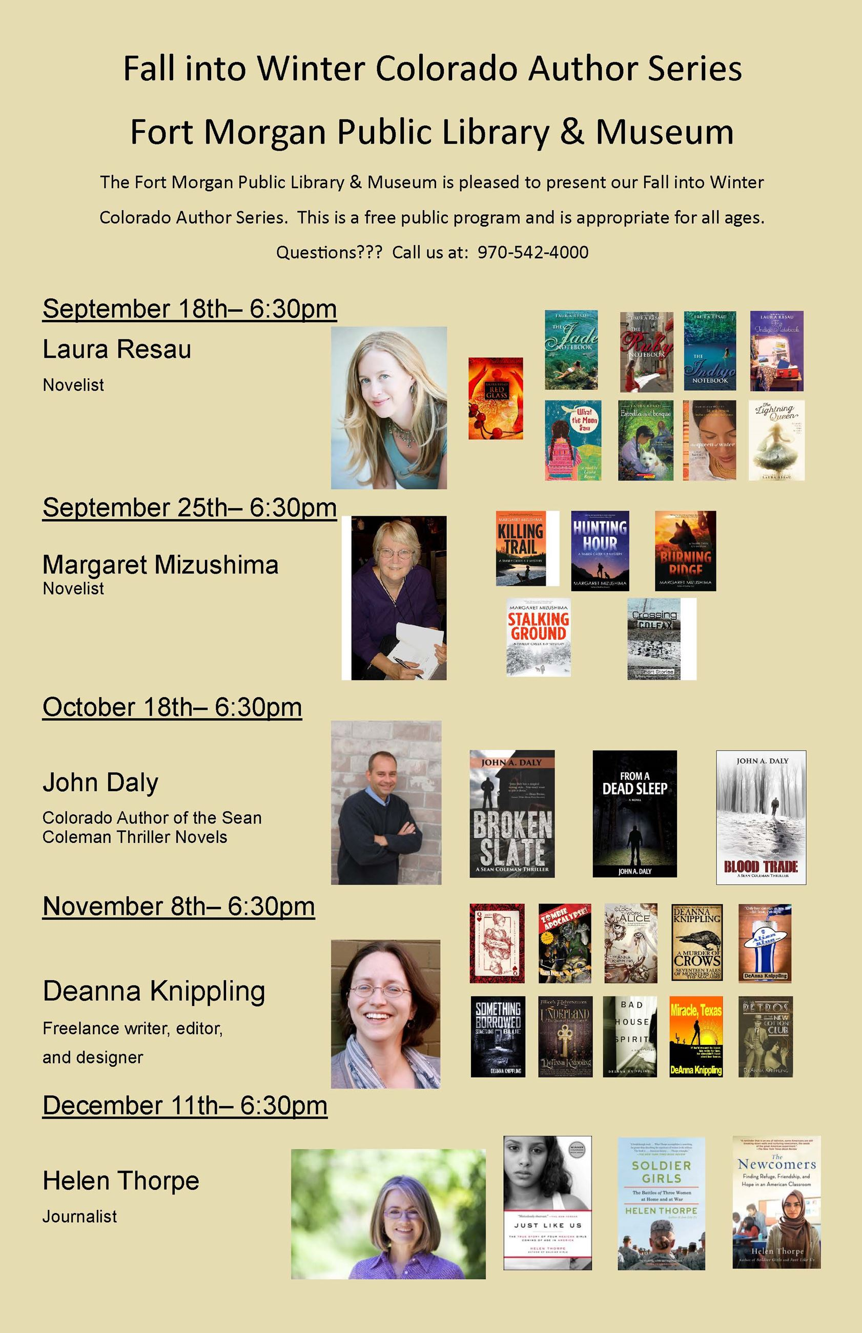 Library author series flier