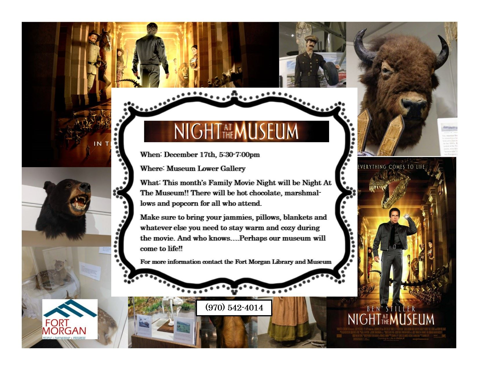 Night at the Museum flier